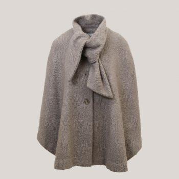 Strik, cape met sjaalkraag