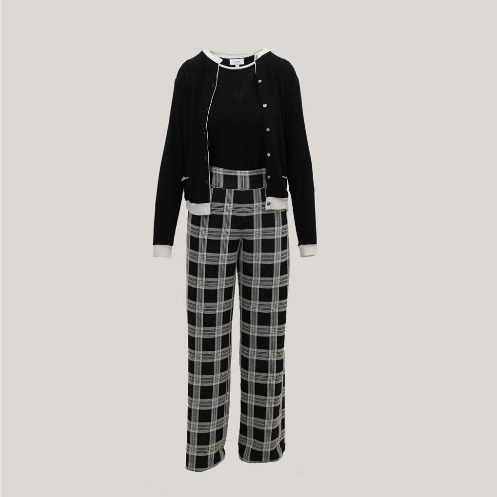 Blocked - Geruite broek met twinset