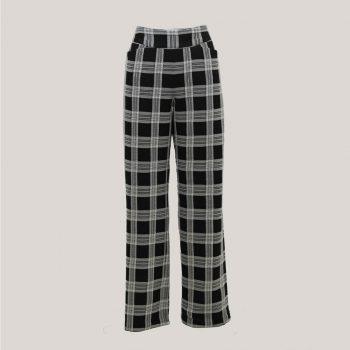 Blocked - Geruite broek met wijde pijp