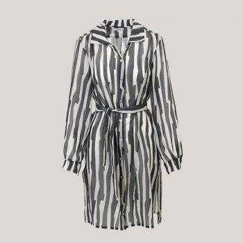 Tense - Lange blouse voor dames met ceintuur