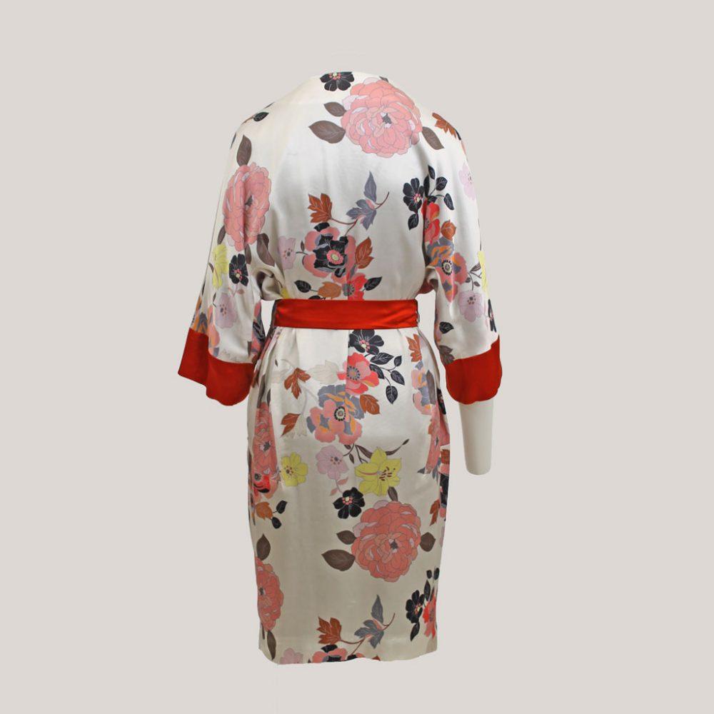 Gebloemde kimono 'Sophie's Choice', achteraanzicht