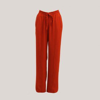 Zomerbroek 'Relax' in de kleur rood, vooraanzicht
