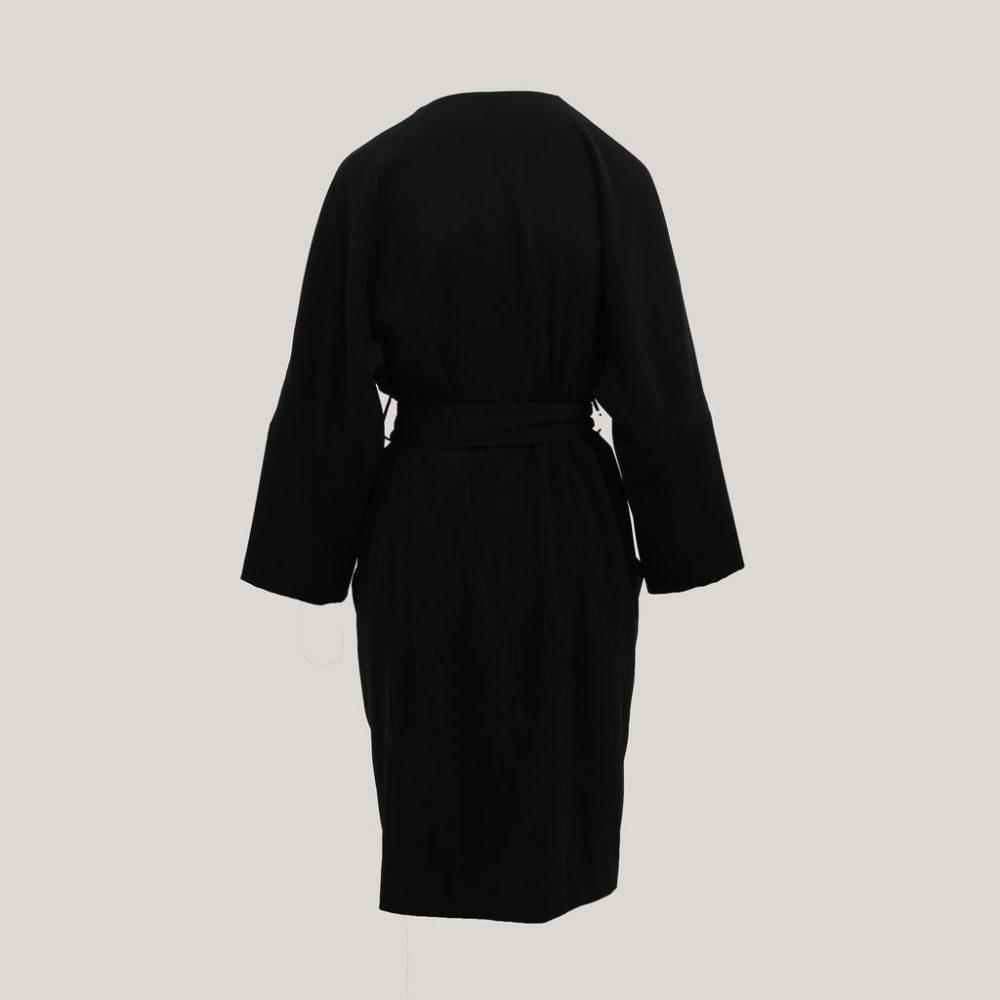 Zwarte kimono 'Black is Black', achteraanzicht